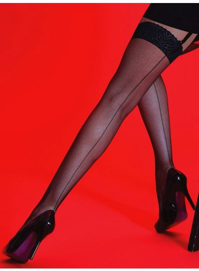 Silky-Scarlet-Back-Seamed-Fishnet-Stockings