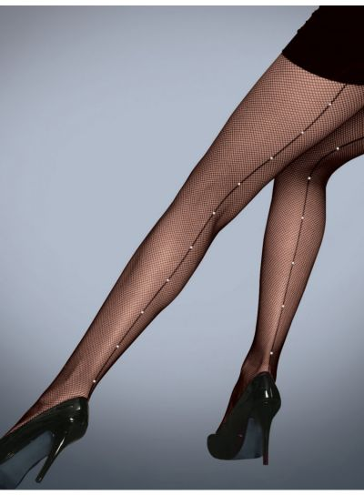 Silky-Diamante-Fishnet-Backseam-Tights