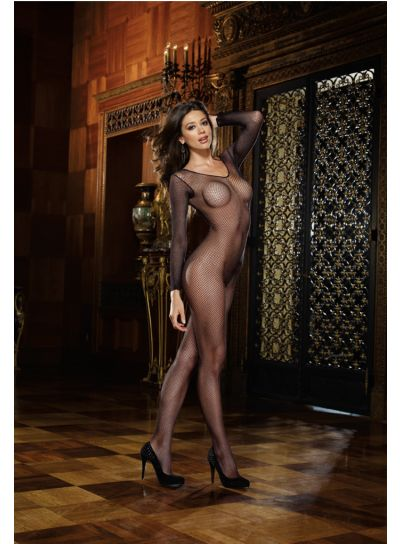 Dreamgirl-Long-Sleeved-Crotchless-Fishnet-Bodystocking