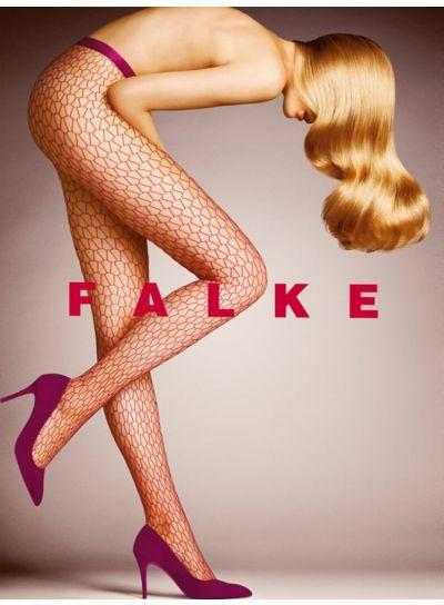 Falke Burgundy Diamond Net Tight
