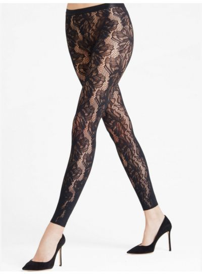 Falke Flower Patterned Lace Leggings