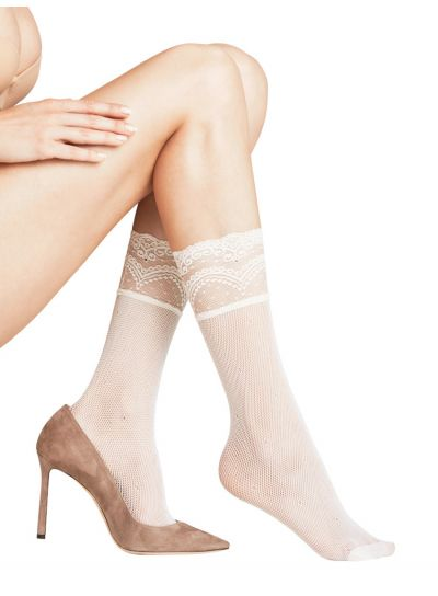 Falke Jewel Fishnet Ankle High Socks