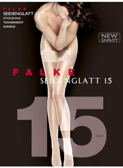 Falke NEW Seidenglatt 15 Denier Shiny Stockings Pack Image