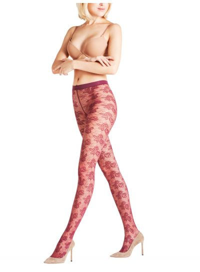 Falke Rose Drama Patterned Tights