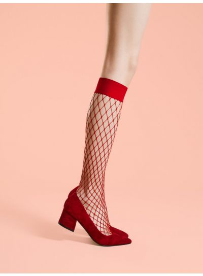 Fiore Cabarette Fishnet Knee Highs