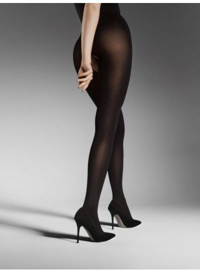 Fiore Ouvert Opaque Crotchless Tights