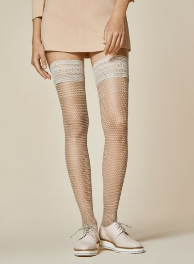 Fiore Risk Fishnet Hold Ups