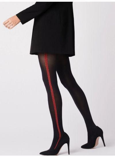 Fiore Rosetto Side Stripe Tights