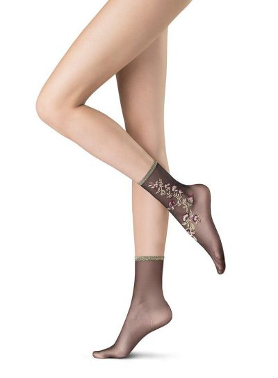 Oroblu Flower Patterned Socks