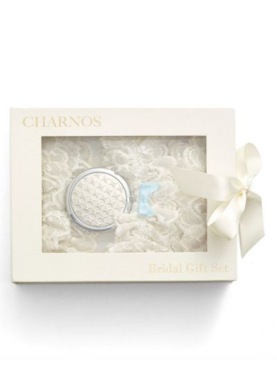 Charnos Bridal Gift Set - 2 Hold Ups & 1 Garter Hosiery Outlet