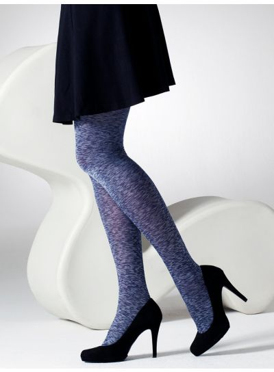 Gipsy Satin Opaque Tights Denim Marl