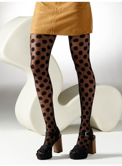 Patterned Tights from Gipsy Decorated with Daisy Flowers all over