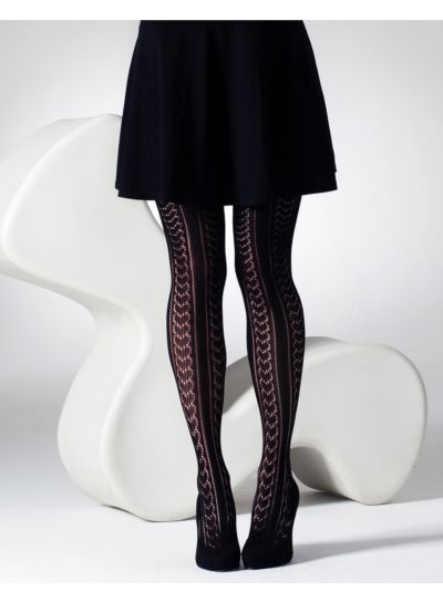 Gipsy Heart & Pinstripe Crochet Tights