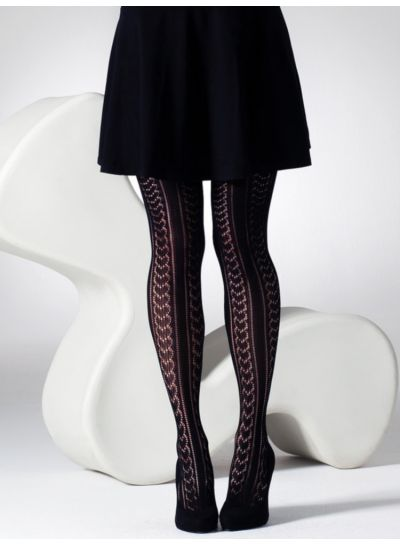 Gipsy Heart & Pinstripe Crochet Tights