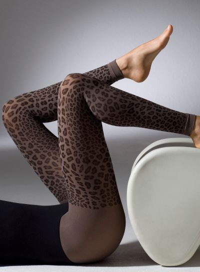 Gipsy Leopard Print Footless Tights