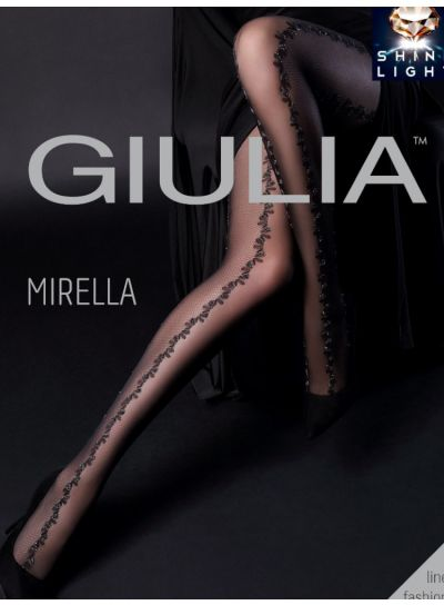 Giulia Mirella Fishnet Panel Tights