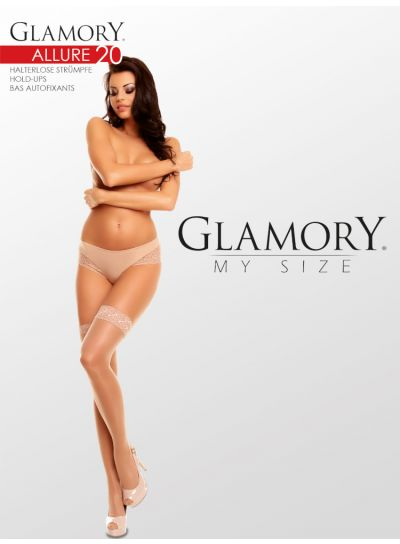 Glamory Allure 20 Hold Ups up to 4XL