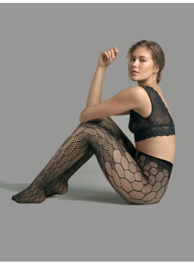 Jonathan Aston Honeycomb Over The Knee Fishnet Tights