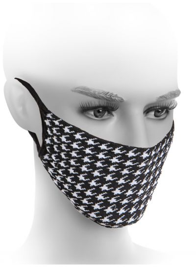 Fiore Hygiene Houndstooth Patterned Mask
