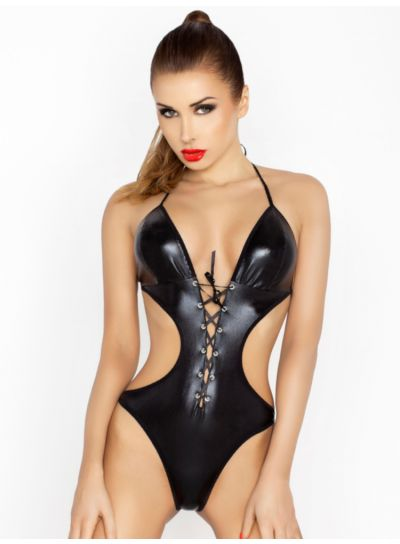 Passion Jean Wet Look Bodysuit