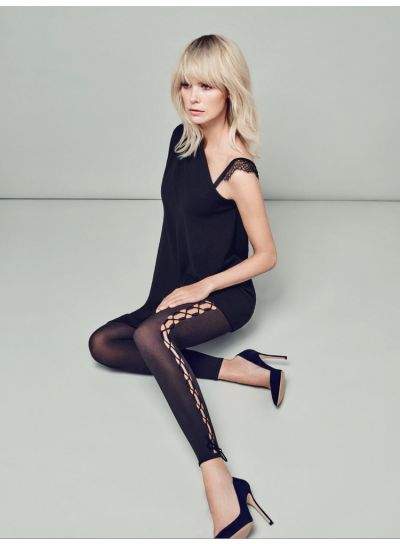 Wolford Lace Up Leggings - Hosiery Outlet