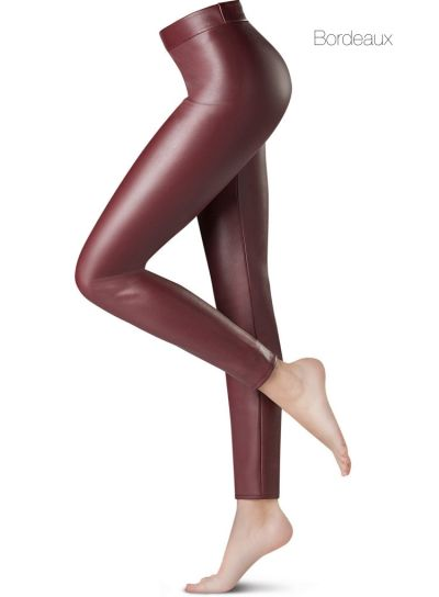 Oroblu PNC Wet Leather Look Red Jeggings