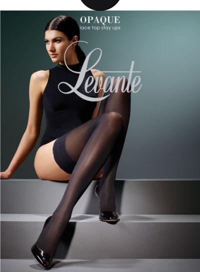 Levante Matte Black Opaque Stay Ups