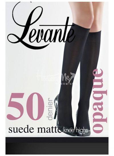 Levante Suede Matte Opaque Knee Highs