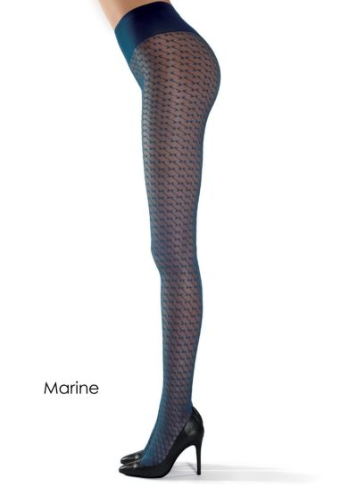 Oroblu Lucy Geometric Patterned Tights - Hosiery Outlet