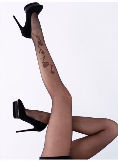 Cecilia de Rafael Margaret Rose Tattoo Tights - Hosiery Outlet