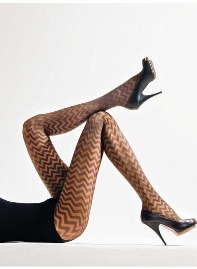 Cecilia de Rafael Mieres Zig Zag Tights - Hosiery Outlet
