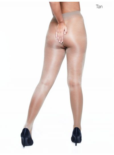 Miss Naughty Sheer Gloss Crotchless Tights - Available up to XXXL