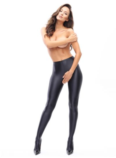 Miss O Opaque Gloss Crotchless Tights