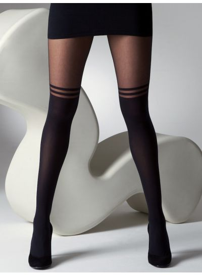 6fed3bb44 Gipsy Mock Over The Knee Double Stripe Tights