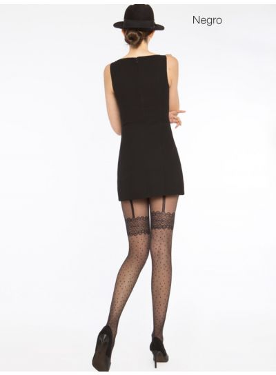 Cecilia de Rafael Loles Mock Suspender Tights - Hosiery Outlet