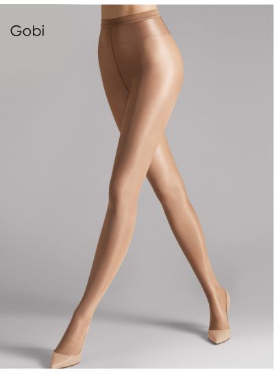 Neon 40 Wolford Tights in Gobi with a gloss finish and luxury look