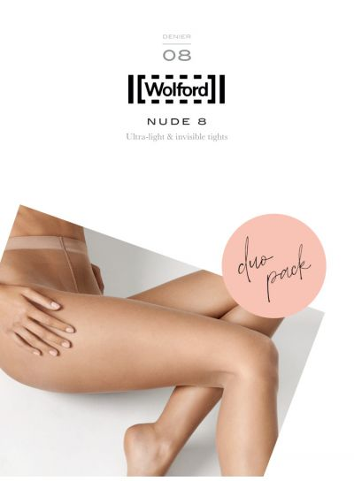 Wolford Nude 8 Tights 2 Pair Pack