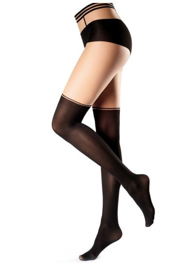Oroblu Graphic Design Black/Cosmetic Over The Knee Tights