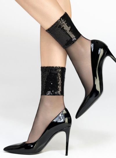 Pierre Mantoux Paillettes Socks