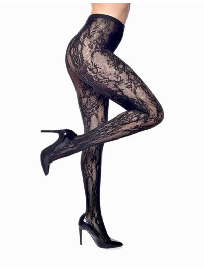 Pamela Mann Paisley Net Tights Available in XL