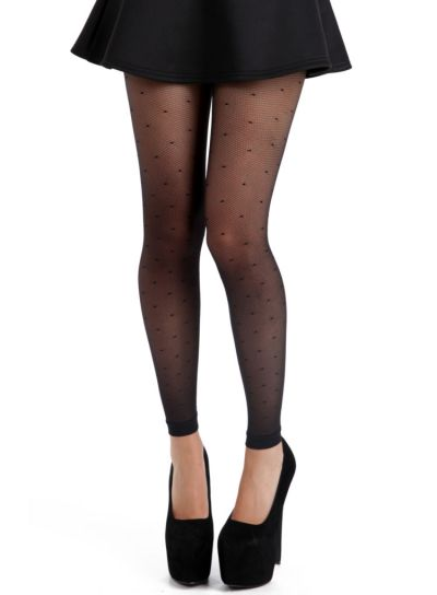 Pamela Mann Fine Net Polka Dot Footless Tights