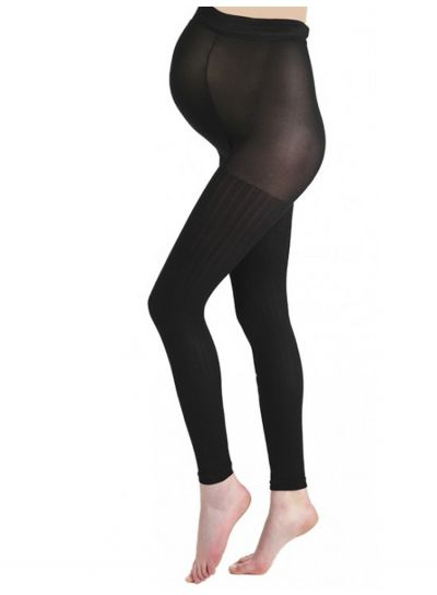 Pamela Mann Maternity Ribbed Footless Tights - Hosiery Outlet