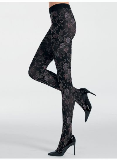 Pierre Mantoux Rosa Floral Tights
