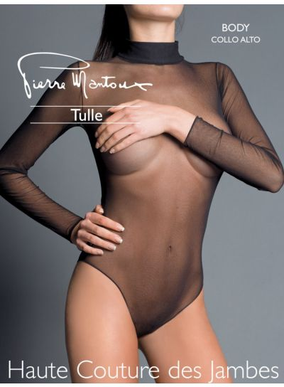 Pierre Mantoux Tulle Collo Alto Bodysuit