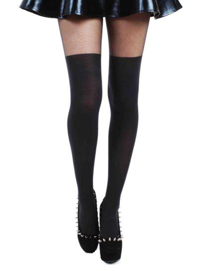 Pamela-Mann-Plain-Over-The-Knee-Tights-Black