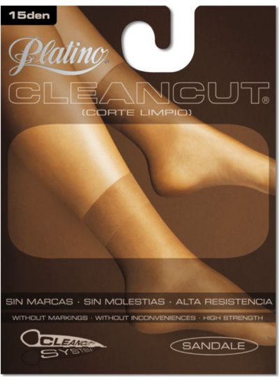 Platino 15 Cleancut Ankle High Shiny Socks 2 Pair Pack