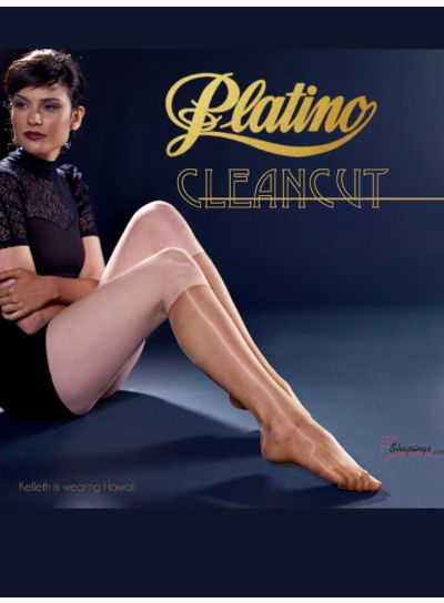 Platino 15 Cleancut Knee High Shiny Socks 2 Pair Pack