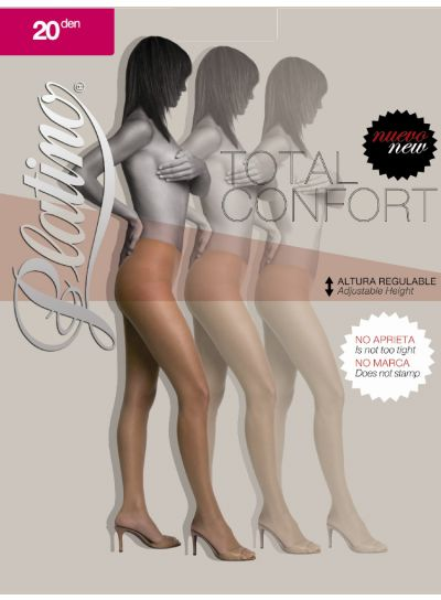 Platino 20 Total Confort Shiny Tights