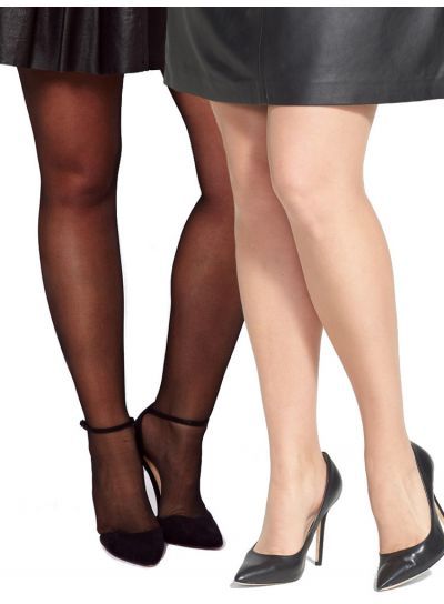 Pamela Mann 3 Pair Pack 15 Denier Sheer Tights also in XL 2XL & 3XL