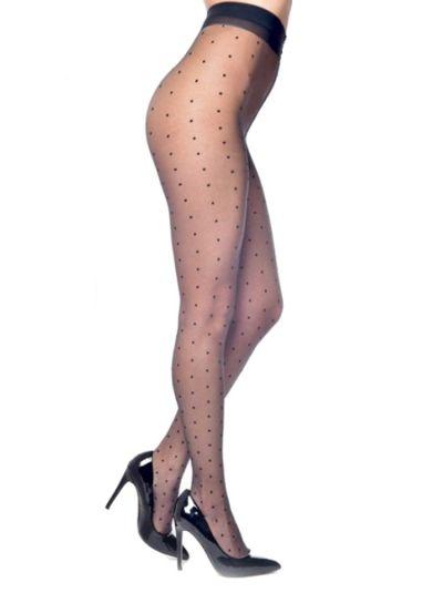 plus size fashion tights pamela mann sheer polka dot patterned tights